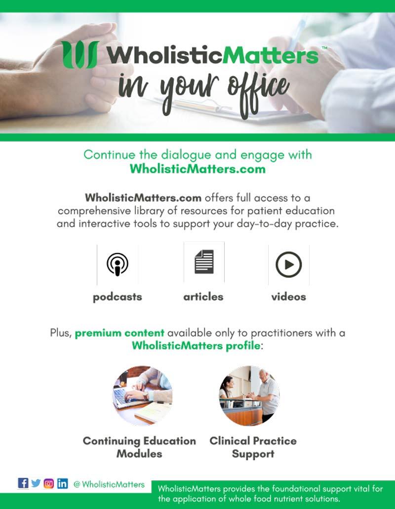 Wholistic Matters - Standard Process